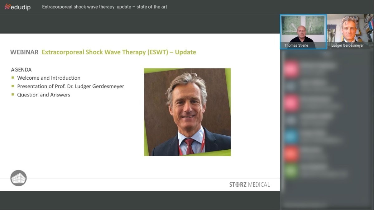 »Extracorporeal shock wave therapy: update – state of the art« webinar recording
