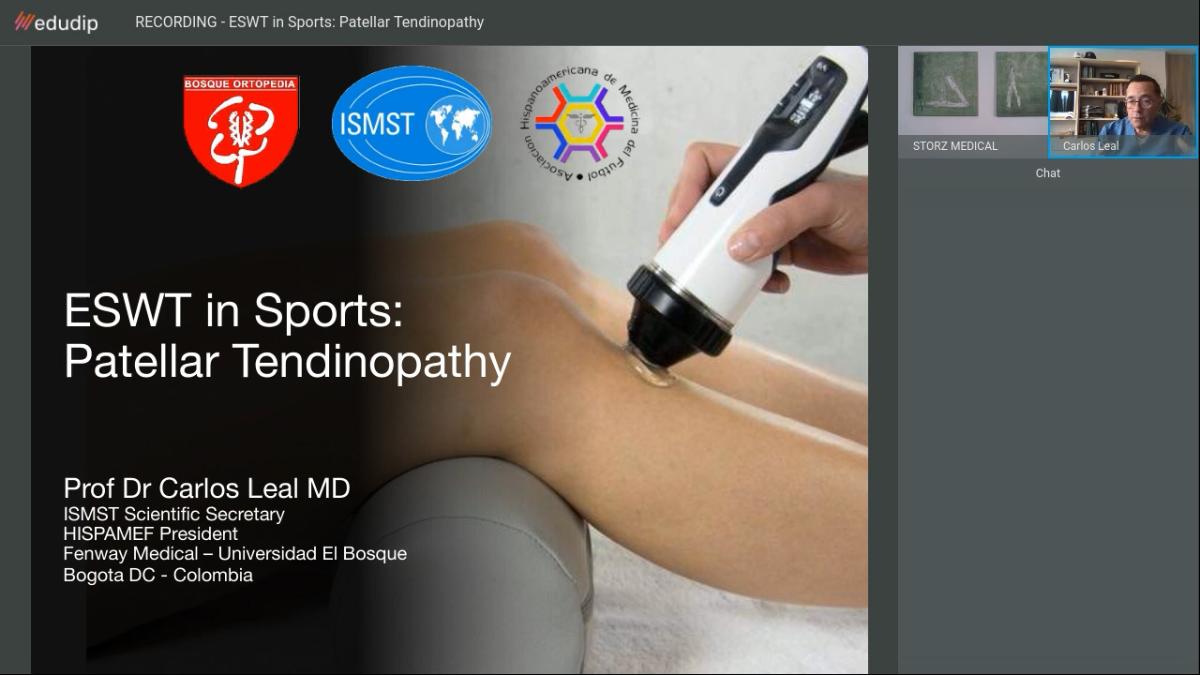»ESWT in Sports: Patellar Tendinopathy« webinar* recording