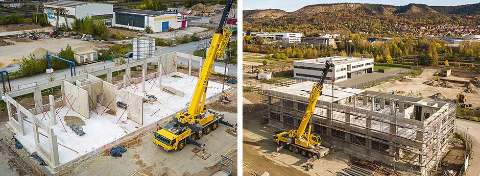 Construction site progress STORZ MEDIAL Deutschland GmbH