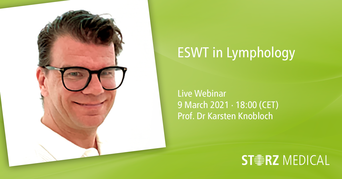 STORZ MEDICAL Live Webinar »ESWT in Lymphology« 1