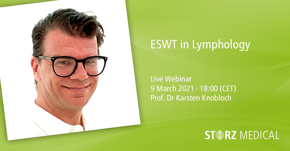 Webinaire STORZ MEDICAL en direct «ESWT in Lymphology»