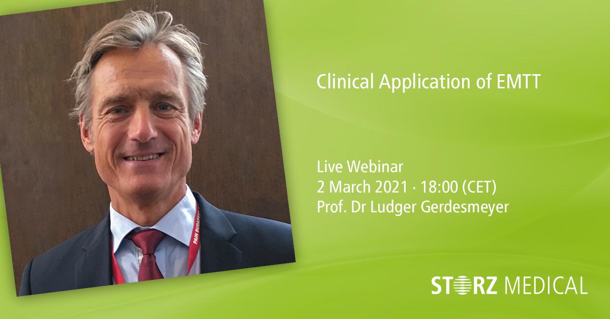 Seminario web en directo de STORZ MEDICAL »Clinical Application of Extracorporeal Magnetotransduction Therapy (EMTT)«