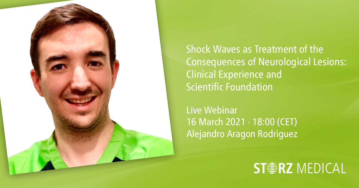 Webinar live STORZ MEDICAL »Shock Waves as Treatment of the Consequences of Neurological Lesions«