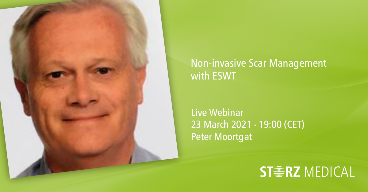 Webinaire STORZ MEDICAL en direct « Non-invasive Scar Management with ESWT »