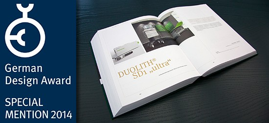 German Design Award 2014 & Special Mention for DUOLITH SD1 »ultra«