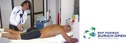 »Zurich open« – die Schulthess Klinik und die Tenniswelt verlassen sich auf den DUOLITH® SD1