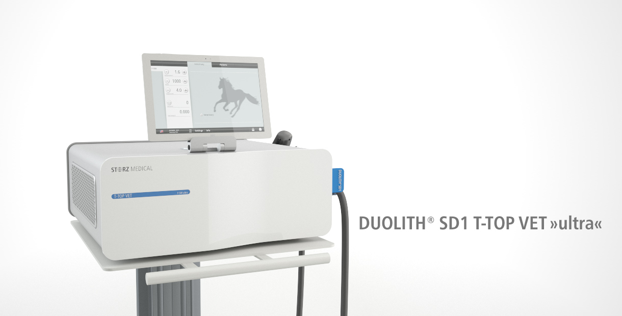 DUOLITH SD1 VET ultra for ESWT in Veterinary Medicine